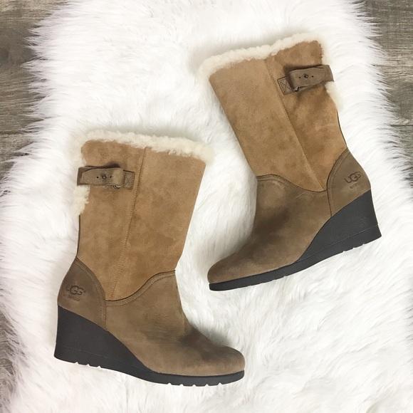 8648e29265c UGG Edelina Waterproof Mid-Calf Leather Boot 6 NWT